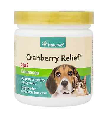 NaturVet CRANBERRY RELIEF Dog Cat Remedy for Urinary Tract Infections 50 Gram