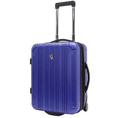 """Traveler's Choice 21"""" Navy Luxembourg Carry-on Suitcase Luggage Travel Bag"""