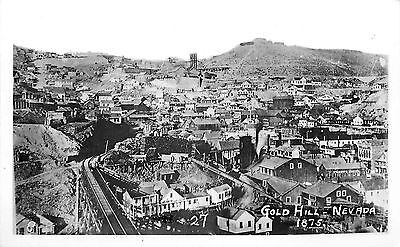 Gold Hill Nv Bird's-Eye View Reprint Photo 1875 View P/C