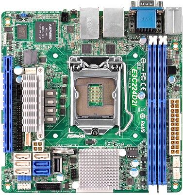 ASRock E3C224D2I Server/Workstation Board Intel Socket 1150 C224 DDR3 Mini M-ITX