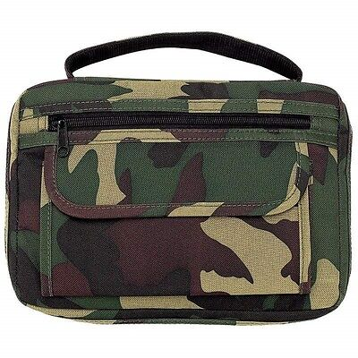 BIBLE COVER Camo Side Pocket Green Mossy Camouflage Book Carry Case Cross Zipper