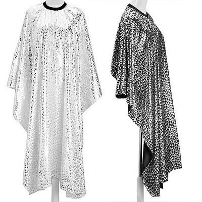 Hair Cape Gown Peacock Pattern Barber Accessory Cutting Salon Long Clothes Clasp
