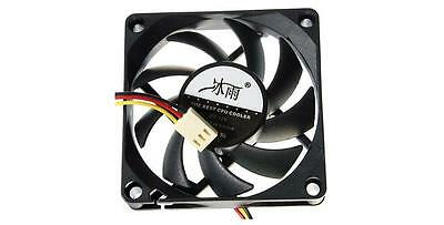 PC CHASSIS CASE COOLING CPU 12v 3 PIN FAN 7CM 70MM x 70MM x 15MM