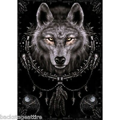 SPIRAL Wolf Dreams 29X43 Cloth Fabric Textile Poster Flag Wall Banner New!!!