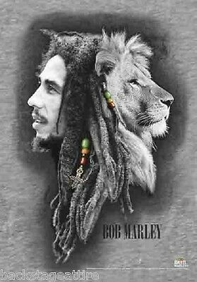 Bob Marley Profiles Lion Reggae 29X43 Cloth Fabric Textile Poster Wall Flag-New!