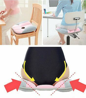 Home Office Beauty Hip Push Up Seat Chair Cushion Soft Rebounded Velvet Yoga Pad