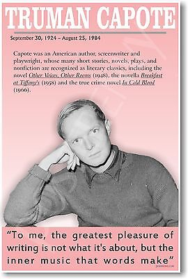 Truman Capote - NEW Famous American Author POSTER