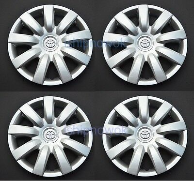 "Set (4 pcs) 15"" Rim Wheel Cover Hubcap fits 2000-2016 Toyota Wheelcovers NEW"
