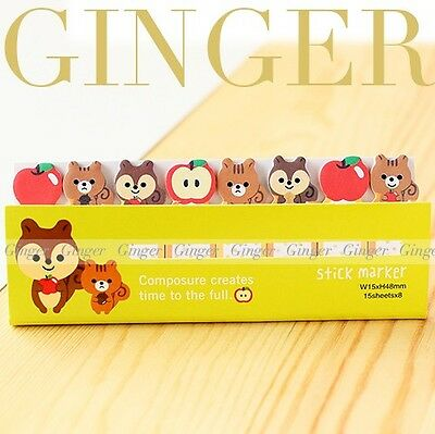 Apple Squirrel Funny 120 Pages Sticker Post It Bookmark Mark Flags Sticky Notes