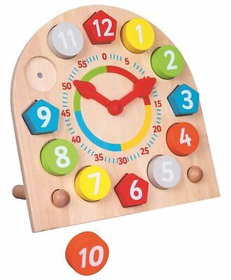 Lelin Wooden Learning 24 Hour Clock Creative Education Toy For Children Kids