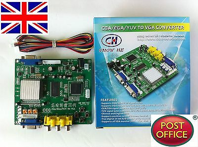 GBS-8200 Video Converter CGA/EGA/YUV/RGB TO VGA Arcade Jamma Game Monitor to LCD