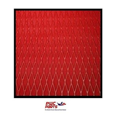 "Hydro Turf Traction Mat ROLL Molded Diamond RED W/ 3M ADHESIVE  40"" x 62"""