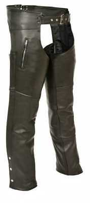 Milwaukee Leather Men's Zippered Thigh Pocket Chaps ML1190