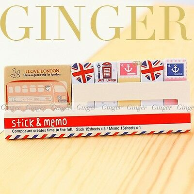 London Travel 90 Pages Sticker Post It Bookmark Memo Marker Flags Sticky Notes
