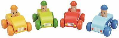 Lelin Wooden Mini Squeaky Cars Fun Vehicle Car Set for Childrens Kids
