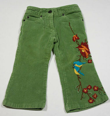 Girls' Clothing (newborn-5t) Clothing, Shoes & Accessories Little Mass Boutique Girls Size 2t Pants Bluebirds Flowers Green Corduroy Floral