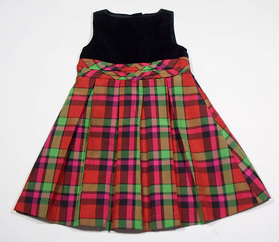 Baby Gap Girls Size 2T Dress Plaid Christmas Holiday Portrait Party