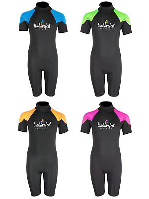 Signature 2.5mm Kids Shorty Wetsuit Childs Junior Surf Sailing Two Bare Feet