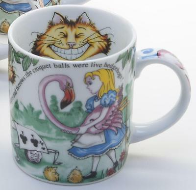 New boxed Paul Cardew Alice in Wonderland 12oz mug, Cheshire Cat Queen of Hearts