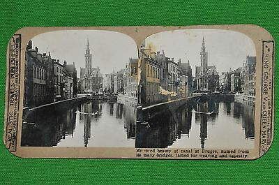 STEREOVIEW OF BRUGES CANAL
