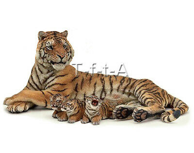 FREE SHIPPING | Papo 50156 Nursing Tigress Lying with Cubs Toy - New in Package