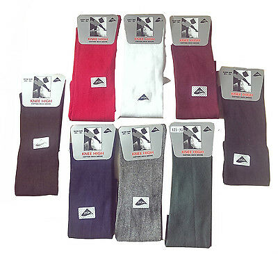 Girls Knee High Socks Plain black white Grey Red Plain Socks All size