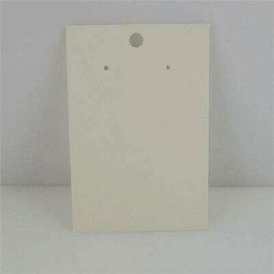 50PCS Blank White Paper Dangle Earring Hook Clasp Packaging Hanging Card Charms