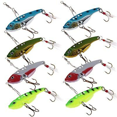 8X 35mm Fishing Switchblade Blade VIBE VIB Metal Lures 3g Shrimp Bream Bass BAL