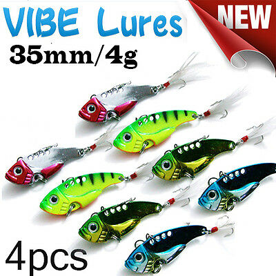 4X Fishing Switchblade Blade VIBE VIB Metal Lures 35mm 4g Bream Bass Flathead