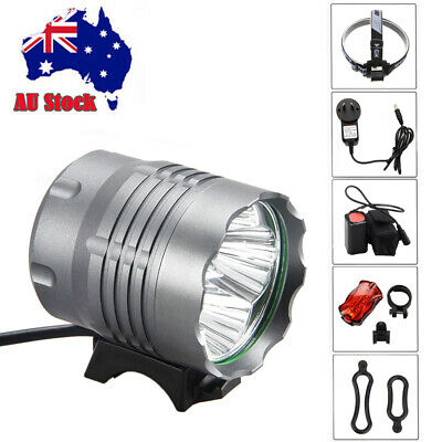 12000Lm 3 XM-L T6 LED Rechargeable Bicycle Lamp bike Head Tail Light 6400mAh