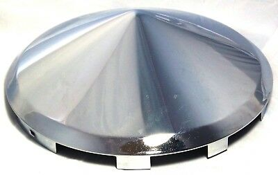 hub caps(2) front universal pointed cone chrome for Kenworth steel wheels