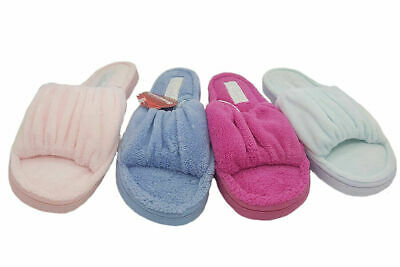 Ladies Slippers Grosby Invisible Support Rouched Slipper Size 5-11 Blue or Pink