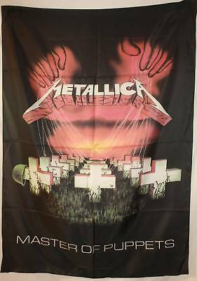 METALLICA Master of Puppets Hetfield Cloth Fabric Poster Flag Wall Banner-New!