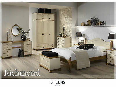 Richmond Cream and Pine Bedroom Furniture Wardrobes & Chest of Drawers