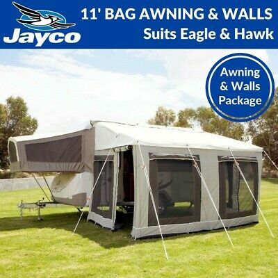 11'  Jayco Bag Awning & Walls Annexe to suit Eagle & Hawk Camper Trailer Annex