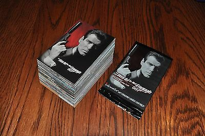 5 wrappers James Bond World is Not Enough 90 card base set