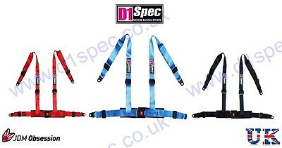 D1 SPEC 4 POINT RACING HARNESS SEAT BELT BLUE JDM DRIFT by nitroXukimport