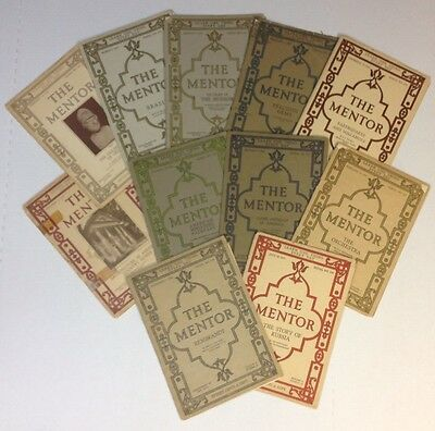 The Mentor Vintage Antique Magazine 1915 1916 1917 Lot Of 11 Issues