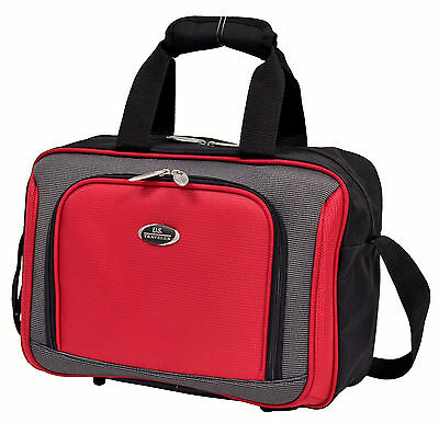 """US Traveler Red New Yorker 15"""" in Carry-on Boarding Travel Tote Piggy Bag Strap"""
