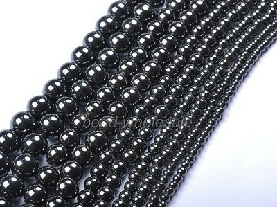 4MM 6MM 8MM 10MM 12MM Ball Black Magnetic Hematite Spacer Charms Beads,Latest