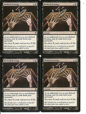 mtg Magic 4x Skeletal Scrying (Adivinacion esqueletica) English Conspiracy NM-