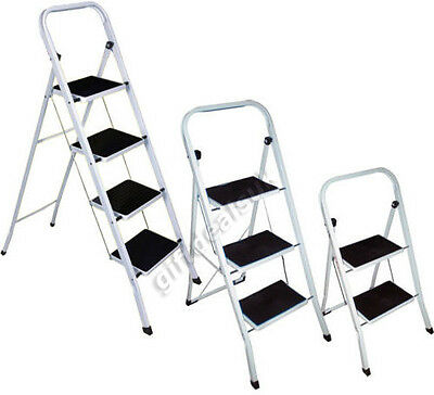 Mixed Metal Foldable 2 3 4 Step Ladder Grip Non-Slip Tread Loft Safety