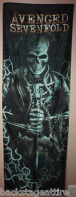 Avenged Sevenfold Hail to the King Skeleton DOOR A7X Fabric Poster Wall Flag New