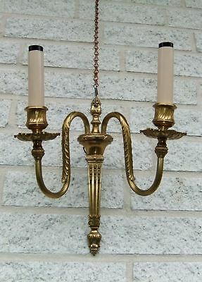 Art nouveau Wall Chandelier - Brass - 2 lamps