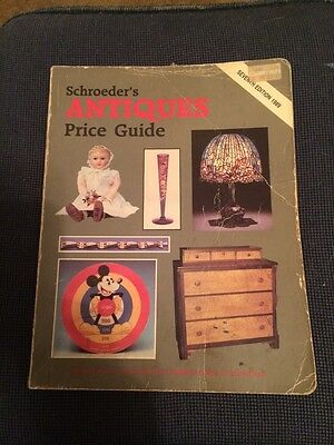 Schroeder's Antiques Price Guide 1989 7Th Edition Free Usa Media Mail Shipping