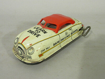 VINTAGE Wind up MARX Learn to Drive Safe School TOY CAR