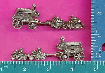 lead free pewter stagecoach being pulled by motorcycles figurine H8045