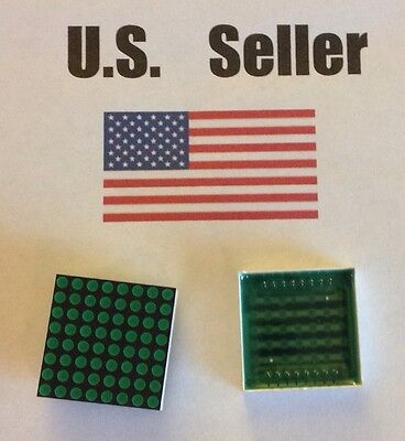 LED Matrix 8x8 Green, 3mm dots, Common Cathode, for Hobby, Arduino, Raspberry Pi