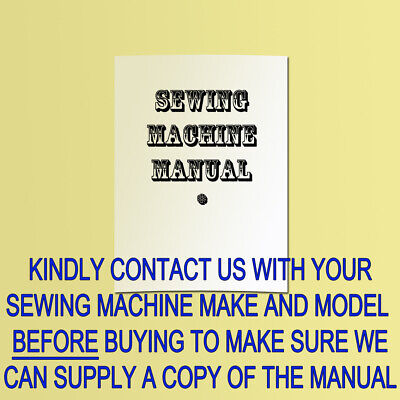 Copy Sewing Machine Manual/instructions For Bernina,pfaff,f&r,viking,juki,etc.