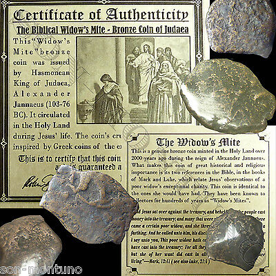 """ONE 2000 Year Old """"Widow's Mite"""" 103-76 BC Antique Roman Coin from BEFORE JESUS"""